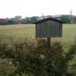 ここが嵐山の小倉大納言の畑です。来年の種まきと収穫が楽しみです。