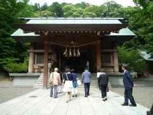 神社本教巡拝旅行2日目安房神社参拝